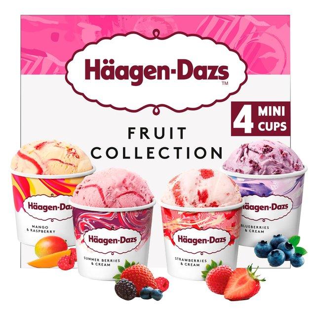 Haagen-Dazs Fruit Collection Ice Cream Mini Cups Ice Cream