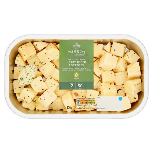 Morrisons Herby Diced Potatoes