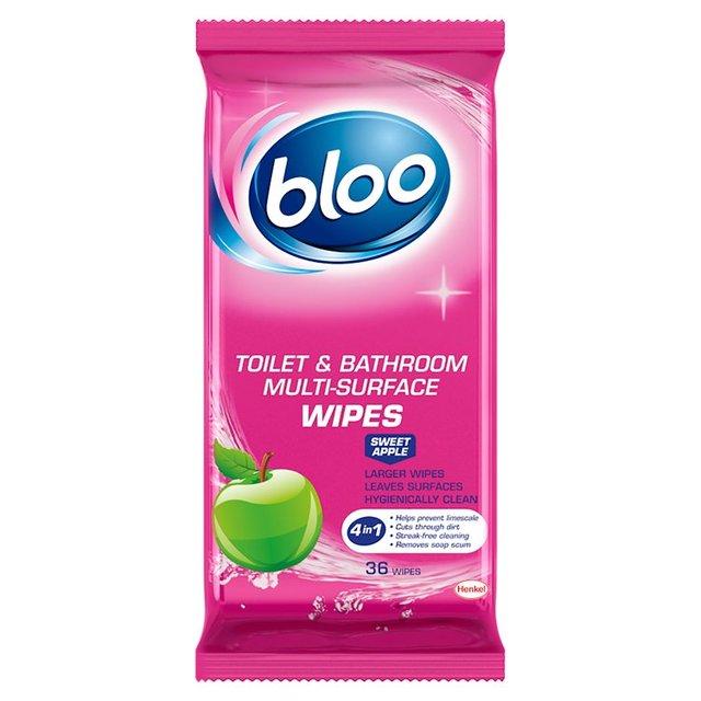 Bloo Toilet & Bathroom Wipes Sweet Tulip 36 Wipes