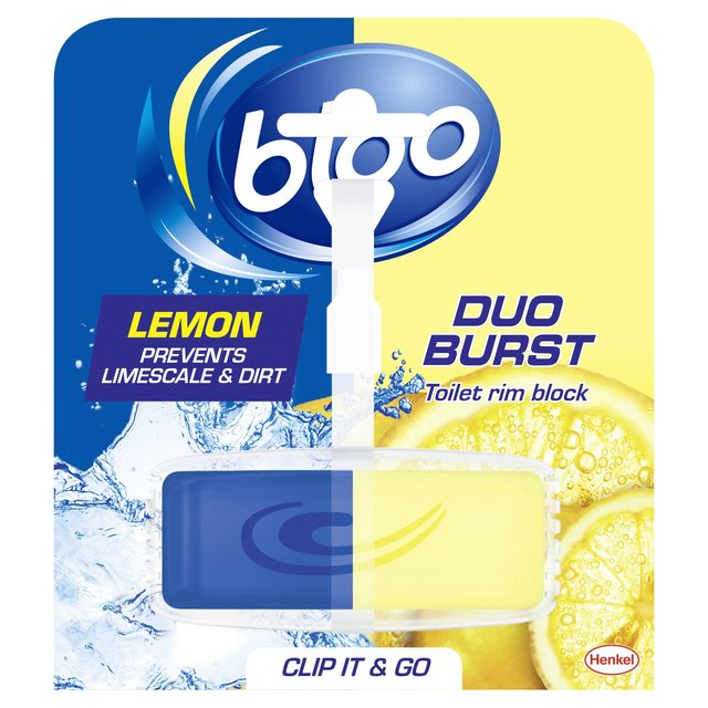 Bloo Lemon Duo Burst Toilet Rim Block