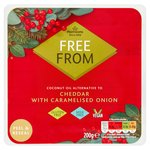 Morrisons Free From Cheddar & Caramelised Onion Cheese