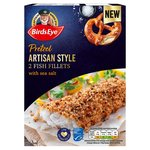 Birds Eye 2 Pretzel Coated Fish Fillets 250G