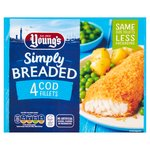 Young's 4 Breaded Cod Fillets