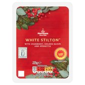 Morrisons White Stilton With Cranberry, Raisin & Amaretto
