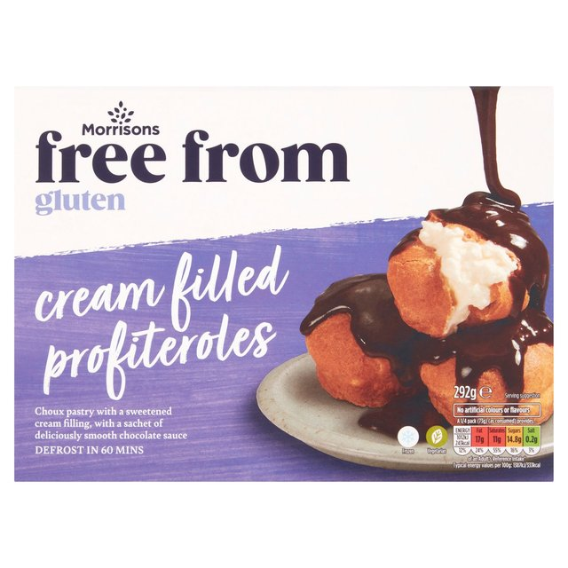 Morrisons 16 Gluten Free Profiteroles With Chocolate Sauce