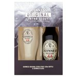 Guinness Original Extra Stout Bottle & Guinness Glass
