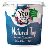 Yeo Valley Blueberry & Blackcurrant Natural Top Yogurt