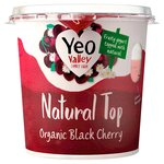 Yeo Valley Black Cherry Natural Top Yogurt