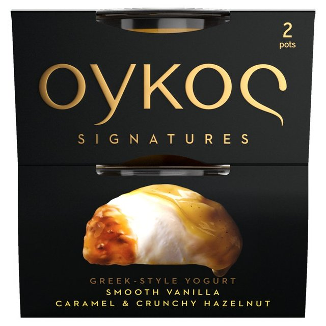 Oykos Signatures Greek Style Vanilla Caramel and Hazelnut Yogurt
