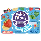 Petits Filous No Added Sugar Strawberry & Banana Fromage Frais