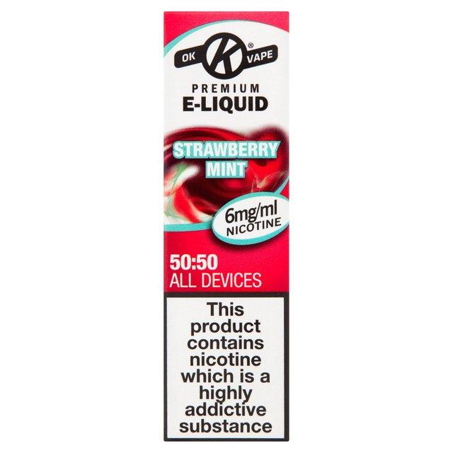 Ok Vape Premium E-Liquid Strawberry Mint 6 Mg