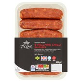 Morrisons The Best 6 Fiery Chilli Sausages