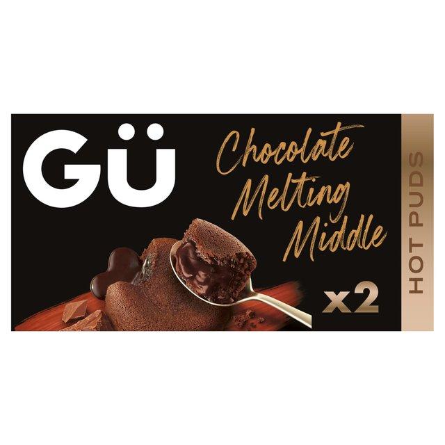 Morrisons Gu 2 Hot Chocolate Molten Middles 2 X 100g