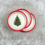 Morrisons Traditional Christmas Tree Plates 10 Pack