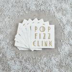 Morrisons Christmas Pop Fizz Clink Napkins 20 Pack