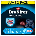 Huggies Dry Nites Pyjama Pants 3 - 5 Years X 16 Marvel Spider Man