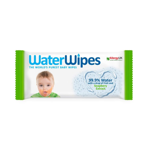 Waterwipes With Soapberry Extract 60 Wipes