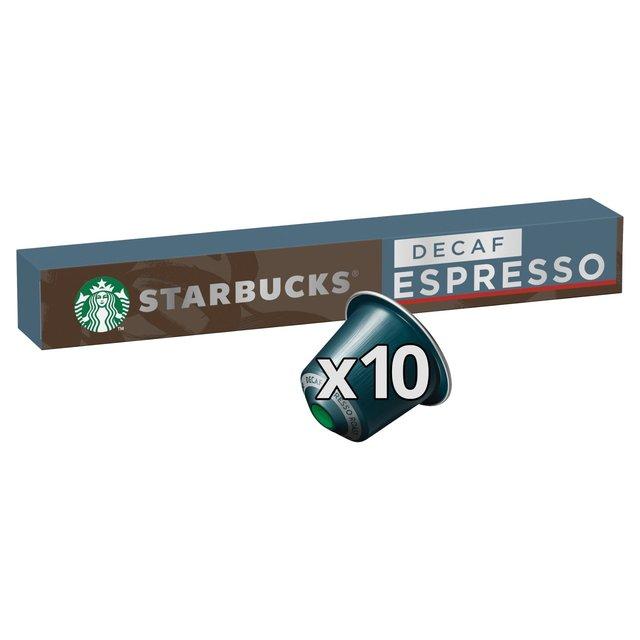 Starbucks Decaf Espresso Roast by Nespresso Coffee Pods x 10