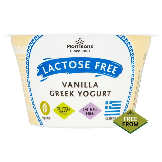 Morrisons Lactose Free Vanilla Greek Style Yogurt