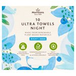 Morrisons Sustainable Night Ultra Towels 10 Pack