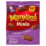 Maryland Cookies Minis Double Choc 6 Mini Bags
