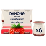 Danone Strawberry no added sugar yogurt