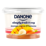 Danone Mango, Carrot & Banana no added sugar yogurt