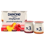 Danone Peach & Raspberry no added sugar yogurt