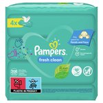 Pampers Fresh Clean Baby Scent 4 X 52 Baby Wipes