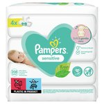 Pampers Sensitive Baby Wipes 4 x 52 per pack