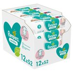 Pampers Sensitive Fragrance-Free 12 X 52 Baby Wipes