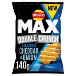 Walkers Max Double Crunch Cheddar & Onion