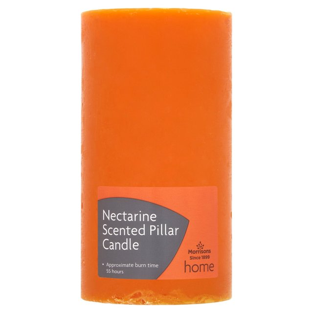 Morrisons Nectarine Scented Pillar Candle