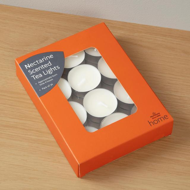Morrisons Nectarine Tealights 24 Pack