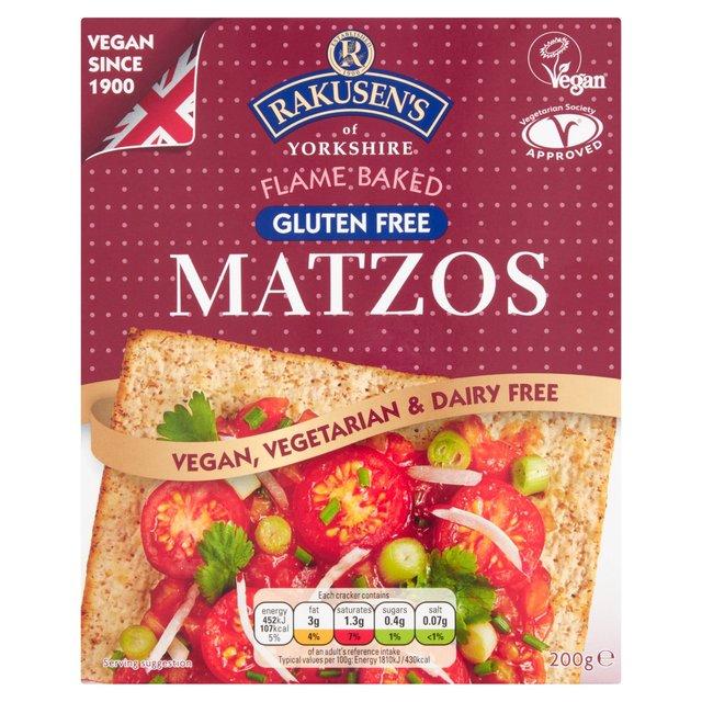 Rakusen'S Gluten Free Matzos Crackers