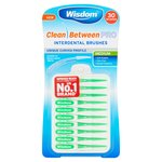 Wisdom Clean Between Pro Interdental Brushes Medium 30 Brushes