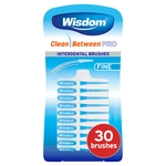 Wisdom Clean Between Pro Interdental Brushes Fine 30 Brushes