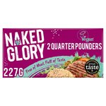 Naked Glory 2 Quarter Pounders Meat Free