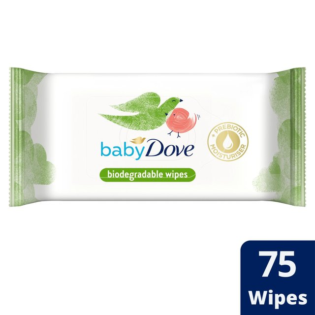 Baby Dove Biodegradable Wipes 75 Wipes