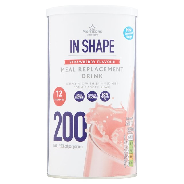 Morrisons In Shape Strawberry Meal Replacement Drink