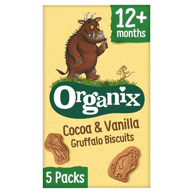 Organix Cocoa & Vanilla Gruffalo Biscuits 12+ Months
