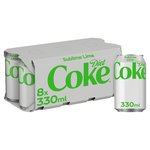 Diet Coke Sublime Lime 8 X 330Ml (Can)