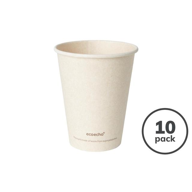 Brown Compostable Bio Bagasse Cups, 240ml