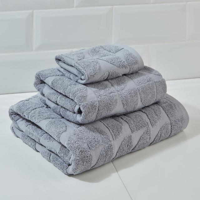 Morrisons Grey Textured Circles Face Cloth