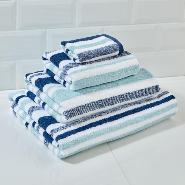 Morrisons Blue Stripe Face Cloth