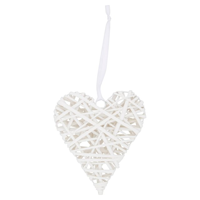 Morrisons White Hanging Heart