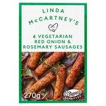 Linda McCartney's 6 Vegetarian Red Onion & Rosemary Sausages