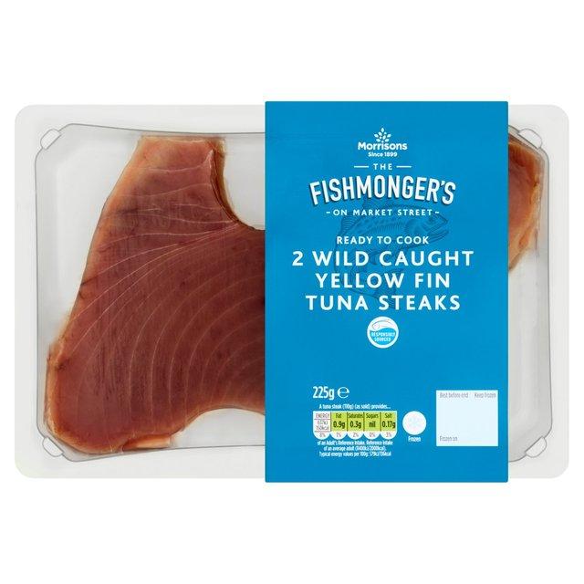 Morrisons Fishmongers Frozen Yellow Fin Tuna Steaks