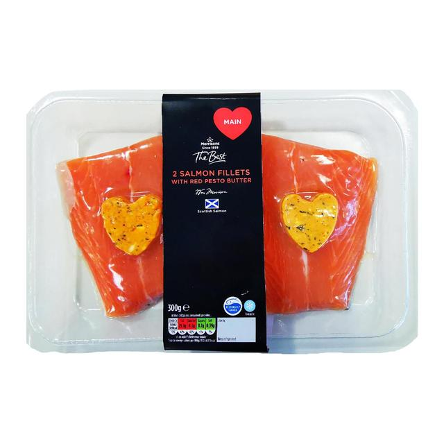 Morrisons The Best Salmon With Red Pesto Butter
