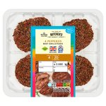 Morrisons 4 Gluten Free Beef Peppered Grillsteaks